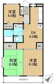ファミール麻生2階Fの間取り画像