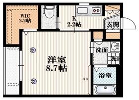 アベニュー2階Fの間取り画像