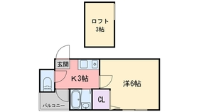 ウイング室見3階Fの間取り画像