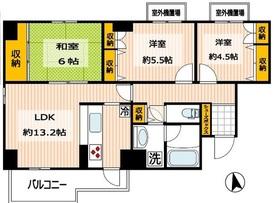 T's garden MUKOGAOKA-YUEN3階Fの間取り画像