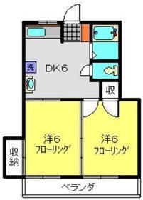メゾンパークス2階Fの間取り画像