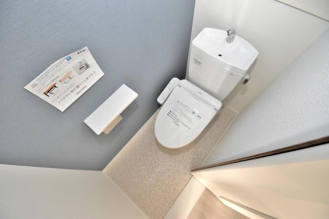 あんしん+衣摺(北棟) 清潔感たっぷりのトイレです。入るとホッとする、そんな空間。