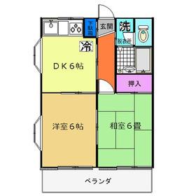 セプレール1階Fの間取り画像
