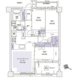 マスターズ ヒル横濱紅葉坂3階Fの間取り画像