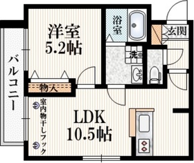 西武柳沢駅 徒歩4分2階Fの間取り画像