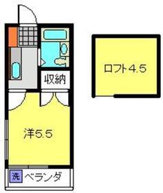 日吉第二QSハイム2階Fの間取り画像