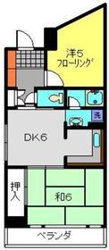 ヴィラカシマ4階Fの間取り画像