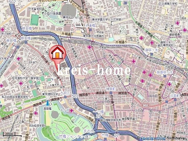 パークハビオ飯田橋案内図