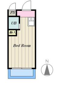 信陽堂ビル3階Fの間取り画像