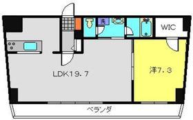 ヒストリアレジデンス海舟5階Fの間取り画像