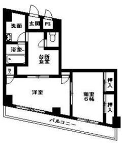 ベルメゾン富士見2階Fの間取り画像