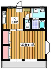 ティアラ1階Fの間取り画像