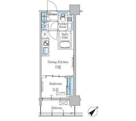 パークアクシス押上テラス6階Fの間取り画像