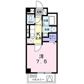 メゾン幸2階Fの間取り画像