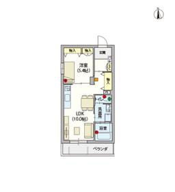 (シニア限定)ヴィレッジ高円寺南2階Fの間取り画像