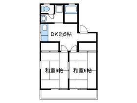 さつき館2階Fの間取り画像
