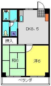 シャルム大倉山4階Fの間取り画像