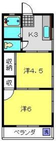 双葉荘3階Fの間取り画像