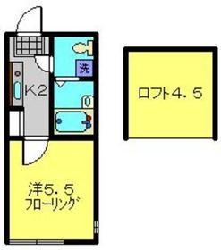グランブルー常盤台2階Fの間取り画像