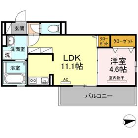 ネクサス黒髪桜坂2階Fの間取り画像
