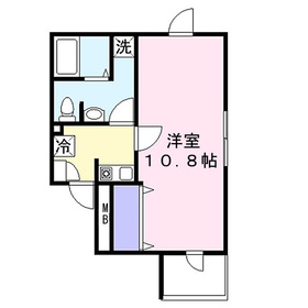 イーストサイドコート4階Fの間取り画像