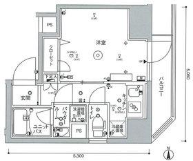 スカイコートパレス蒲田11階Fの間取り画像