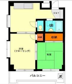 鹿島田駅 徒歩37分5階Fの間取り画像