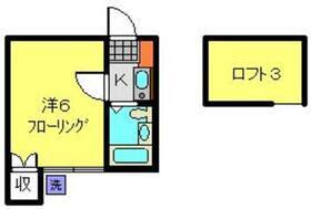 レオパレスクレスト横浜1階Fの間取り画像