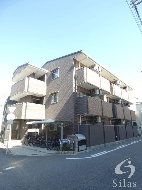 大阪市東住吉区湯里1丁目の賃貸マンションの外観