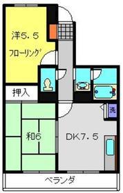 エザンス2階Fの間取り画像