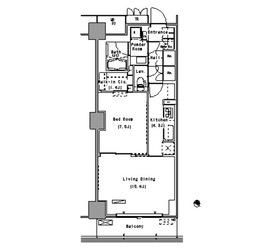 パークアクシス豊洲12階Fの間取り画像