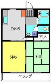 山口ハイツ32階Fの間取り画像