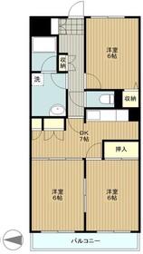 ロードプラザITO3階Fの間取り画像