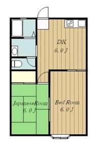 ハイネスⅠ1階Fの間取り画像