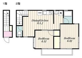 本厚木駅 バス10分「三家入口」徒歩3分1階Fの間取り画像