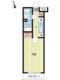 スカイコート下北沢壱番館4階Fの間取り画像