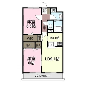 エクセラン・フキヨシ2階Fの間取り画像