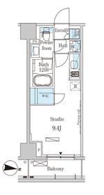 パークアクシス木場キャナル ウエスト8階Fの間取り画像