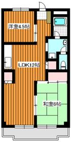 第2オリエンタルマンション2階Fの間取り画像
