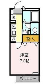 ミル・ブランシェ2階Fの間取り画像