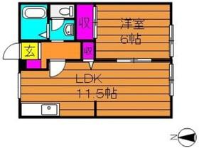 ジョイ福田1階Fの間取り画像