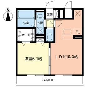 エフハウス1階Fの間取り画像