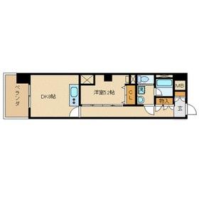 LA.PRYLE新横浜3階Fの間取り画像