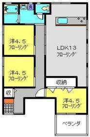 新羽駅 徒歩5分2階Fの間取り画像