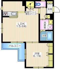 プリマヴェーラ鎌倉3階Fの間取り画像