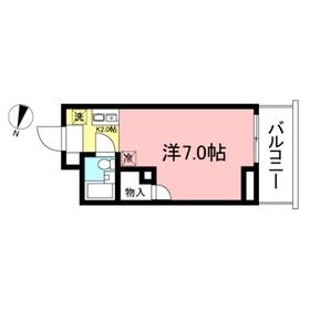アーバンコート田村1階Fの間取り画像
