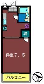NSハイム1階Fの間取り画像