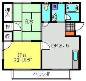 キャロットハイツ2階Fの間取り画像