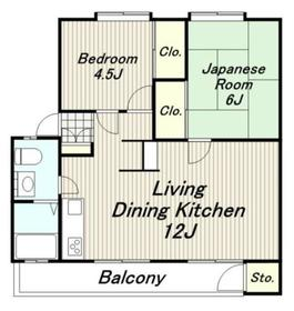 矢野口住宅1階Fの間取り画像