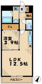リリーヒルズ6階Fの間取り画像